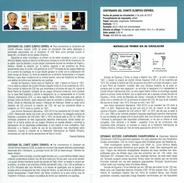COMITÉ OLYMPIQUE - LUCIUS MINICIUS NATALIS ET J ANTONIO SAMARANCH - DOCUMENT INSTRUCTIF DE L´ÉMISSION DE TIMBRE ESPAGNE - España