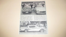 SPATZ COUPE , MERCEDES 300 SL , A PORTES PAPILLONS + SUPER HARDTOP DE G.M. - PUBLICITE / ANNONCE DE 1956. - Publicités