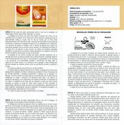 SCIENCE - GEOLOGIE - Paleontologia - DOCUMENT INSTRUCTIF DE L´ÉMISSION DE TIMBRE ESPAGNE - España