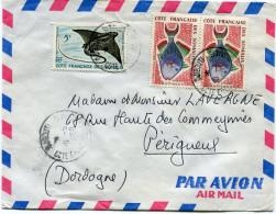 COTE FRANCAISE DES SOMALIS LETTRE PAR AVION DEPART DJIBOUTI ?0-5-1960 POUR LA FRANCE - Côte Française Des Somalis (1894-1967)