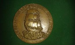 1952, Arthur Dupon, 125 Jaar Bank Van Antwerpen, Banque D'Anvers, 220 Gram (med304) - Elongated Coins