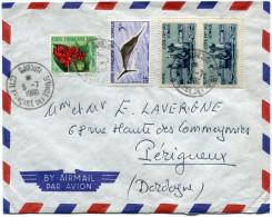 COTE FRANCAISE DES SOMALIS LETTRE PAR AVION DEPART DJIBOUTI 5-7-1960 POUR LA FRANCE - Côte Française Des Somalis (1894-1967)