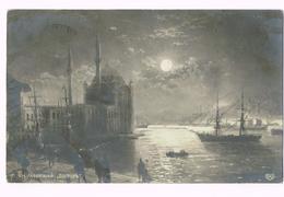 1910 - Iwan Ajwazowski  - A Moonlit Night On The Bosphorus - Russia - Timbre/stamp - Türkiye - Turkey - Russie