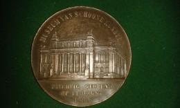 1890,  F. Baetes, Stad Antwerpen, Opening Museum Van Schoone Kunsten, 106 Gram (med307) - Elongated Coins
