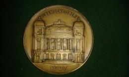 1907, F. Baetes, Stad Antwerpen, Opening Vlaamsche Opera, 108 Gram (med308) - Souvenirmunten (elongated Coins)