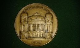 1907, F. Baetes, Stad Antwerpen, Opening Vlaamsche Opera, 108 Gram (med308) - Pièces écrasées (Elongated Coins)