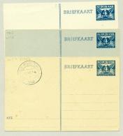 Nederland - 1945 - Briefkaart G276 A B En C, Alle Kleuren, Ongebruikt - Postal Stationery