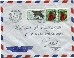 COTE FRANCAISE DES SOMALIS LETTRE PAR AVION DEPART DJIBOUTI 3-6-1960 POUR LA FRANCE - Côte Française Des Somalis (1894-1967)