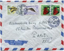 COTE FRANCAISE DES SOMALIS LETTRE PAR AVION DEPART DJIBOUTI 7-10-1960 POUR LA FRANCE - Côte Française Des Somalis (1894-1967)