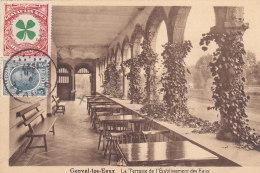 Genval-les-Eaux - La Terrasse De L'Etablissement Des Eaux (vignette, Edition Casterman, 1927) - Rixensart