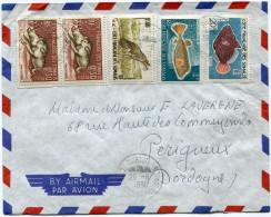 COTE FRANCAISE DES SOMALIS LETTRE PAR AVION DEPART DJIBOUTI 29-8-1961 POUR LA FRANCE - Lettres & Documents