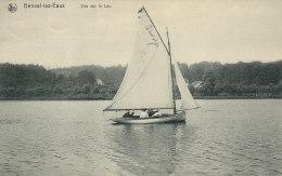 Genval-les-Eaux - Vue Sur Le Lac (animée, Voilier, J. Degraux, 1910) - Rixensart