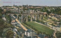 AK Luxembourg Vue Generale Color Gelaufen Zensur Trier - Ansichtskarten