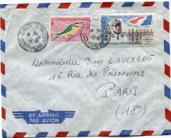 COTE FRANCAISE DES SOMALIS LETTRE PAR AVION DEPART DJIBOUTI 30-5-1961 POUR LA FRANCE - Lettres & Documents