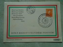 D141942 Hungary  -Beregszász Visszatért 1938 -Beregovo - 392/1000 - Commemorative Sheets