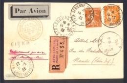 CPA AVIATION - Recommandé CIDNA - FLECHE D'ORIENT - Meeting Strasbourg 14 Mai 1933 - Meetings