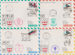 "Österreich 1975: 14.Sonder-Ballonpost ""12.Olymp-Winterspiele"" 4 Orte (siehe Foto) - Per Palloni"