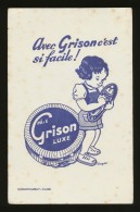 Buvard - GRISON - De Luxe -bleu Fond Blanc - G