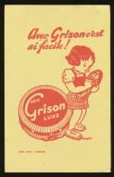 Buvard - GRISON - De Luxe - Rouge Fond Jaune - G