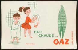 Buvard -  LE GAZ - - Buvards, Protège-cahiers Illustrés
