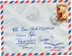 COTE FRANCAISE DES SOMALIS LETTRE PAR AVION DEPART DJIBOUTI 20-7-1962 POUR LA FRANCE - Lettres & Documents