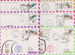 "Österreich 1976: 15.Sonder-Ballonpost ""12.Olymp-Winterspiele"" 6 Belege - Per Palloni"