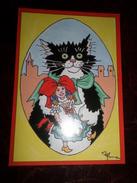 Carte Postale Illustrateur Patrick Hamm  Amour Félin N°5 Felix Alsacien - Hamm
