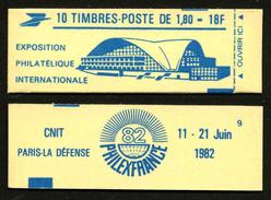 FRANCE - CARNET YT 2220-C3 - FERME - Confectionneuse 9 - Definitives