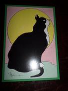 Carte Postale Illustrateur Patrick Hamm  Amour Félin N°24 Felix Tueur De Mouches - Hamm