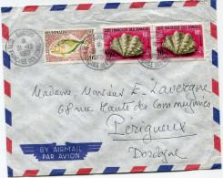 COTE FRANCAISE DES SOMALIS LETTRE PAR AVION DEPART DJIBOUTI 31-12-1962 POUR LA FRANCE - Lettres & Documents