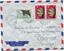 COTE FRANCAISE DES SOMALIS LETTRE PAR AVION DEPART DJIBOUTI 3-12-1962 POUR LA FRANCE - Côte Française Des Somalis (1894-1967)