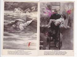 """2  CPA  """"  Le POMPIER - Le SAUVETEUR """"  AS N° 696 - Sapeurs-Pompiers"""