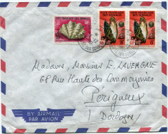 COTE FRANCAISE DES SOMALIS LETTRE PAR AVION DEPART DJIBOUTI 24-12-1962 POUR LA FRANCE - Côte Française Des Somalis (1894-1967)