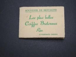 FOLKLORE / BRETAGNE - Carnet De 10 Photos Avec Pochette - A Voir - L 5183 - Personnages