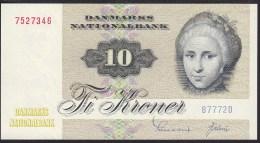Denmark 10 Kronur 1977 P48g UNC - Danimarca