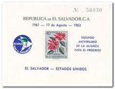 El Salvador 1961, Postfris MNH, Flowers - El Salvador