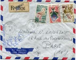 COTE FRANCAISE DES SOMALIS LETTRE RECOMMANDEE PAR AVION DEPART DJIBOUTI 28-5-1962 POUR LA FRANCE - Lettres & Documents