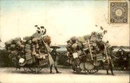 JAPON - Carte Postale De Marchands Ambulants Sur La Route Avec Leurs Charrettes - A Voir - L 5185 - Japan