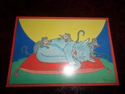 Carte Postale Illustrateur Patrick Hamm  Amour Félin N°28  Les Milles Et Une Nuits - Hamm