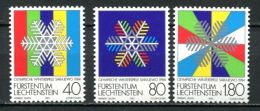 Liechtenstein 1983 Olympic Games Winter Sarajevo 1984 Snow Snowflakes Sports Stamps MNH Michel 834-836 Scott 772-774 - Winter 1984: Sarajevo