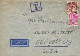 19865. Carta Aerea FRANFURT (Alemania Zona Americana Britanica) 1949. TAXE, Tasa - Zona Anglo-Américan