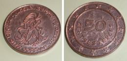 Copie D'ancienne Monnaie Publicitaire NUTELLA 1999 Assurancetourix Sesterces Astérix Obélix César, Goscinny Uderzo Pièce - Fausses Monnaies