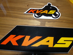 AUTOCOLLANT X 2 MOTO KVAS - Other Collections