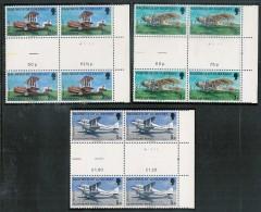 GUERNSEY 1973 AIR SERVICE Gutter Pair Cylinder Blocks Of 4 SET Of 5 (2 Photos) - Guernsey