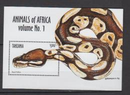 Tanzanie YV BF 410 N 1999 Python - Slangen