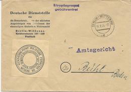 LETTRE DE 1955 GOUVERNEMENT MILITAIRE FRANCAIS DE BERLIN ARCHIVES WAST- PRISONNIER DE GUERRE- - Marcophilie (Lettres)
