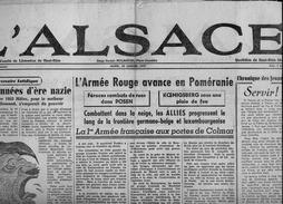 Journal   D'époque  Pas Une Réédition :  L 'Alsace  Haut-Rhin  30  Janvier  1945 - Documents