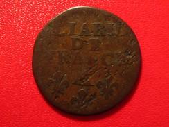 France - Liard De France à La Vieille Tête 1697 AA Metz Louis XIV 9760 - 987-1789 Monnaies Royales