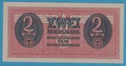 """Deutsche Wehrmacht 2 Reichsmark ND (1942) Military """"Behelfszahlmittel""""  P# M37  UNC - [10] Military Banknotes Issues"""