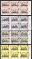 ISLE Of MAN - IoM 1973 STEAM RAILWAY CENTENARY Marginal Blocks Of 6 U/Mint (**) - Isle Of Man